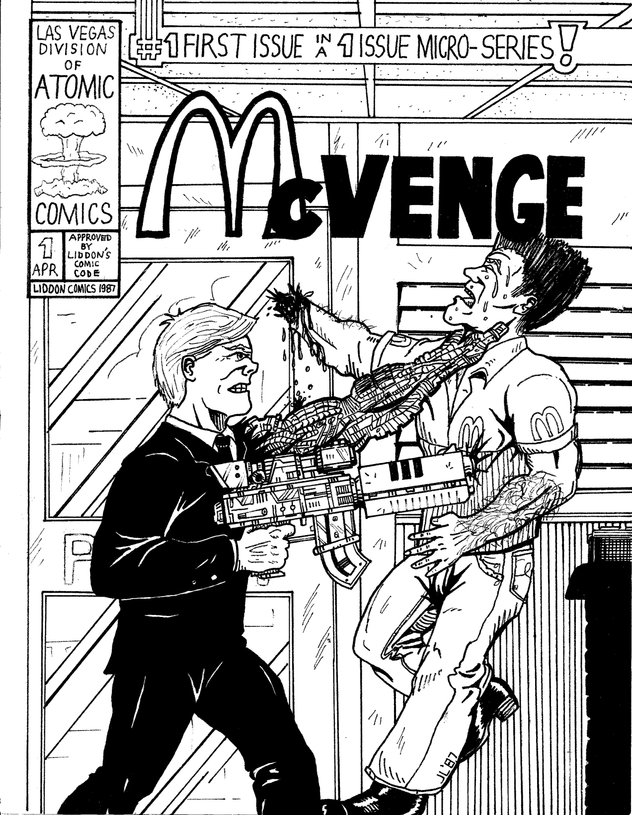 Murder and mayhem at a fast food joint!